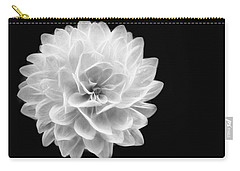 Carry-all Pouch featuring the photograph Glowing Dahlia by Louise Lindsay