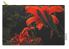 Carry-all Pouch featuring the photograph Glowing Day Lilies by Donna Brown