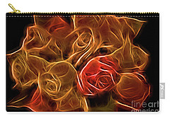 Glowing Golden Rose Bouquet Carry-all Pouch