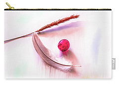 Carry-all Pouch featuring the photograph Glowing Grape #g5 by Leif Sohlman