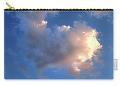 Glowing Heart Cloud Carry-all Pouch by Michael Rock