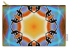 Carry-all Pouch featuring the digital art Glowing Heartfire by Derek Gedney