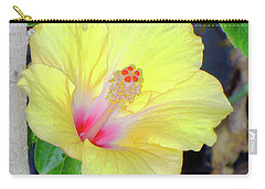 Glowing Hibiscus Flower Carry-all Pouch