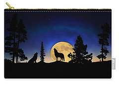 Carry-all Pouch featuring the photograph Glowing Horizon by Shane Bechler