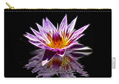 Glowing Lilly Flower Carry-all Pouch by Shane Bechler