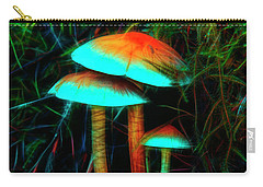 Carry-all Pouch featuring the photograph Glowing Mushrooms by Yulia Kazansky