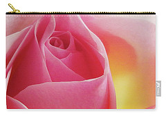 Glowing Pink Rose Carry-all Pouch