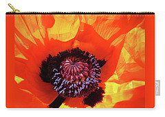 Eye Popping Oriental Poppy - Images From The Garden Carry-all Pouch