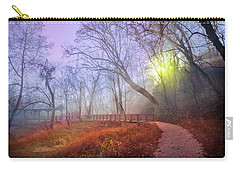 Carry-all Pouch featuring the photograph Glowing Through The Trees by Debra and Dave Vanderlaan