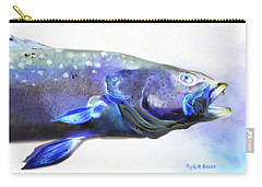 Carry-all Pouch featuring the painting Glowing Trout by Phyllis Beiser