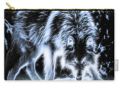 Glowing Wolf In The Gloom Carry-all Pouch