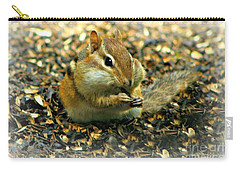 Carry-all Pouch featuring the photograph Glutton by Barbara S Nickerson