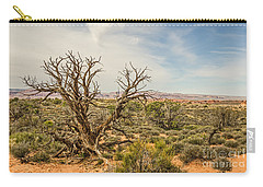 Gnarled Juniper Tree In Arches Carry-all Pouch by Sue Smith