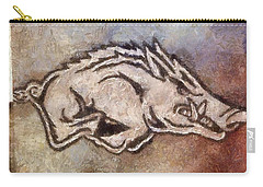 Go Hogs Go  Carry-all Pouch by Dawn Bearden