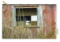 Carry-all Pouch featuring the photograph Goat In The Window by Donald C Morgan