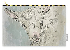 Goat Portrait-farm Animals Carry-all Pouch