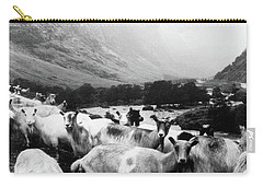 Carry-all Pouch featuring the mixed media Goats In Norway- By Linda Woods by Linda Woods