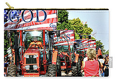 Carry-all Pouch featuring the photograph God Bless America And Farmers by Toni Hopper