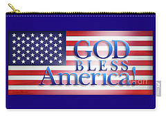 God Bless America Carry-all Pouch by Shevon Johnson