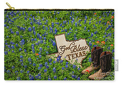 God Bless Texas II Carry-all Pouch by John Roberts