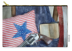 Carry-all Pouch featuring the photograph God, Guns And Old Glory by Benanne Stiens