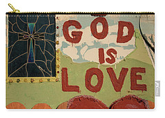 God Is Love Carry-all Pouch by Ralph Vazquez