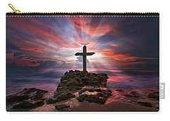 God Is My Rock Special Edition Fine Art Carry-all Pouch by Justin Kelefas