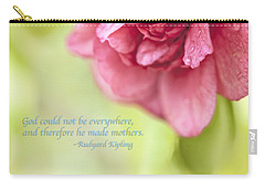 God Made Mothers Quote Carry-all Pouch by Marianne Campolongo