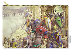 Godfrey De Bouillon's Forces Breach The Walls Of Jerusalem Carry-all Pouch