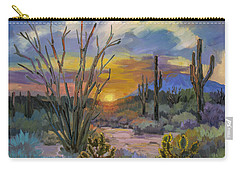 God's Day - Sonoran Desert Carry-all Pouch by Diane McClary