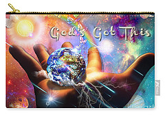 Carry-all Pouch featuring the digital art God's Got This by Dolores Develde