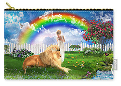 Carry-all Pouch featuring the digital art God's Perfect Promise  by Dolores Develde