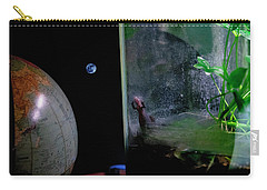 Godzilla Watches And The Moon Is Blue Carry-all Pouch