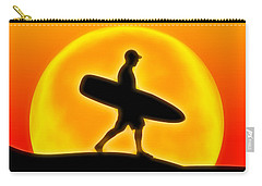 Carry-all Pouch featuring the digital art Goin' For A Surf by Andreas Thust