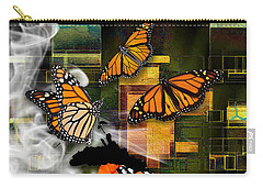 Carry-all Pouch featuring the mixed media Going The Distance by Marvin Blaine