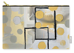 Carry-all Pouch featuring the mixed media Gold And Grey Abstract by Eduardo Tavares