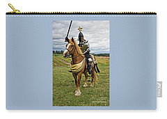 Gold And Silver Knight Carry-all Pouch