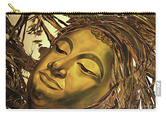 Gold Buddha Head Carry-all Pouch