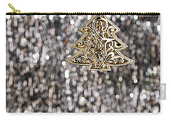 Carry-all Pouch featuring the photograph Gold Christmas Tree by Ulrich Schade