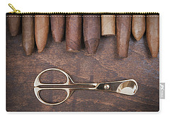 Carry-all Pouch featuring the photograph Gold Cigar Cutter  by Andrey  Godyaykin