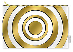 Gold Circles Carry-all Pouch
