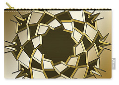 Carry-all Pouch featuring the digital art Gold Coffee 10 by Chuck Staley