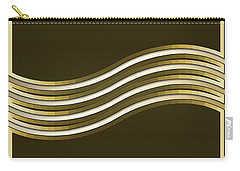 Carry-all Pouch featuring the digital art Gold Coffee 8 by Chuck Staley