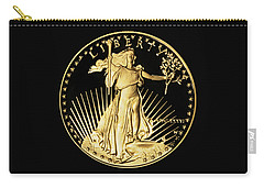 Gold Coin Front Carry-all Pouch by Phyllis Denton