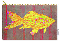 Gold Fish On Striped Background Carry-all Pouch