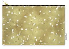 Gold Glam Confetti Dots Carry-all Pouch