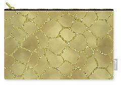 Gold Glam Giraffe Print Carry-all Pouch