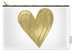Gold Glam Heart Carry-all Pouch