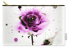 Gold Heart Of The Rose Carry-all Pouch by Zaira Dzhaubaeva