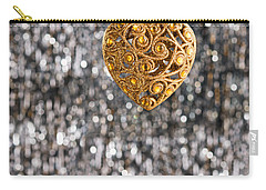 Carry-all Pouch featuring the photograph Gold Heart  by Ulrich Schade